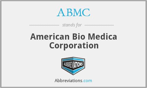 ABMC - American Bio Medica Corporation