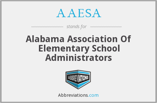 AAESA - Alabama Association Of Elementary School Administrators
