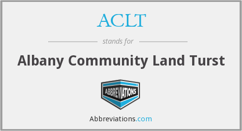 ACLT - Albany Community Land Turst