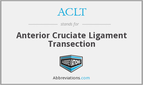 ACLT - Anterior Cruciate Ligament Transection