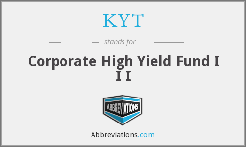 KYT - Corporate High Yield Fund I I I