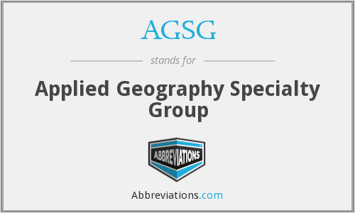 What does AGSG stand for?
