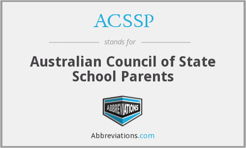 ACSSP - Australian Council of State School Parents