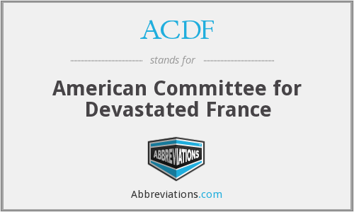 ACDF - American Committee for Devastated France