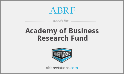 ABRF - Academy of Business Research Fund
