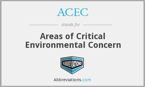 ACEC - Areas of Critical Environmental Concern