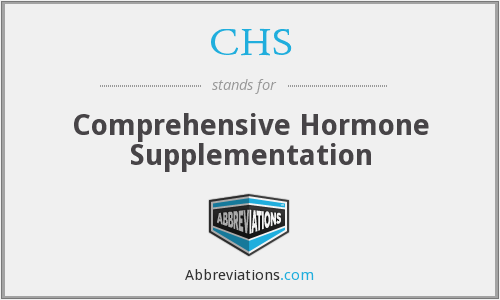 CHS - Comprehensive Hormone Supplementation