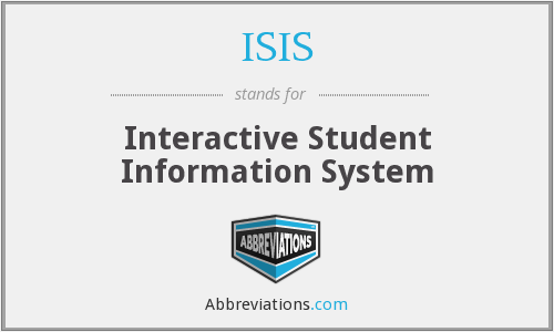 ISIS - Interactive Student Information System