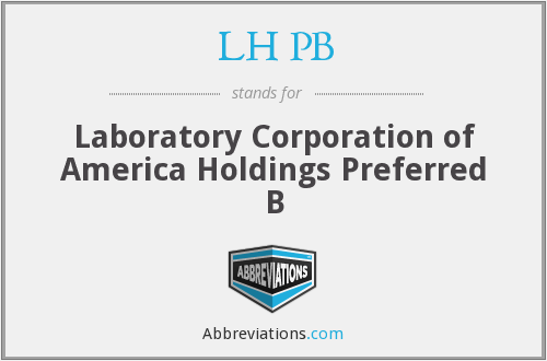 LH PB - Laboratory Corporation of America Holdings Preferred B