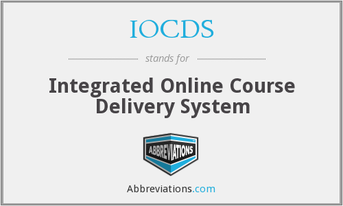 IOCDS - Integrated Online Course Delivery System