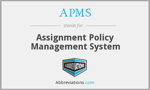 APMS - Assignment Policy Management System