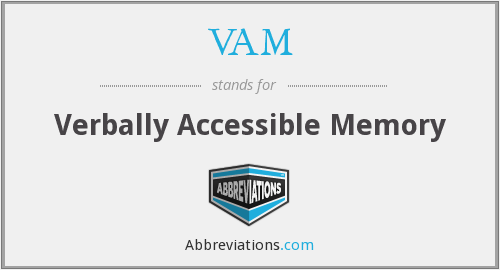 VAM - Verbally Accessible Memory