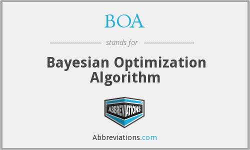 BOA - Bayesian Optimization Algorithm