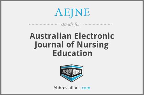 AEJNE - Australian Electronic Journal of Nursing Education