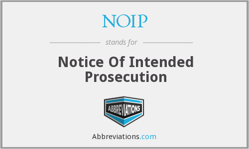 NOIP - Notice Of Intended Prosecution