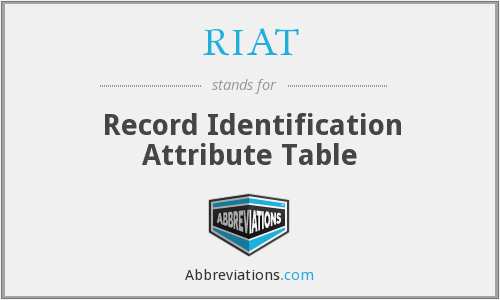 RIAT - Record Identification Attribute Table