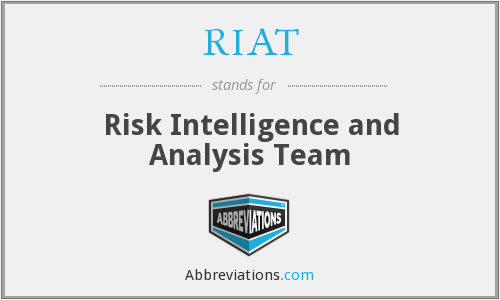 RIAT - Risk Intelligence and Analysis Team