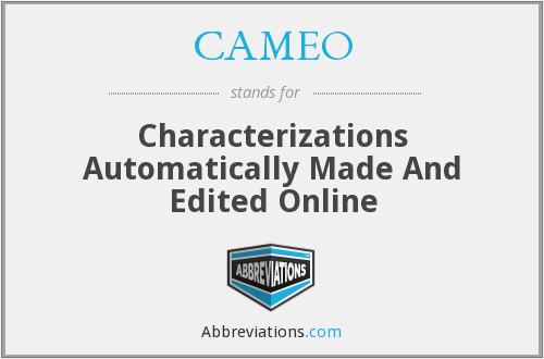 CAMEO - Characterizations Automatically Made And Edited Online