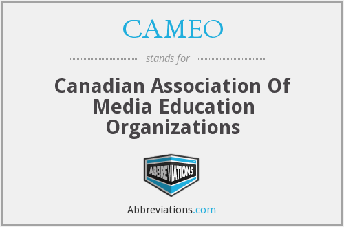CAMEO - Canadian Association Of Media Education Organizations