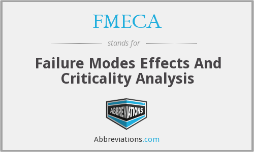 FMECA - Failure Modes Effects And Criticality Analysis
