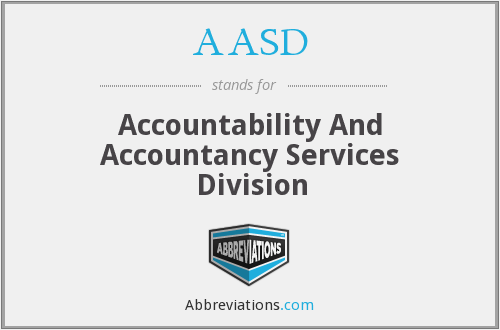AASD - Accountability And Accountancy Services Division