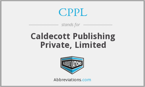 CPPL - Caldecott Publishing Private, Limited