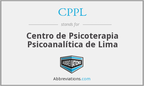 CPPL - Centro de Psicoterapia Psicoanalítica de Lima