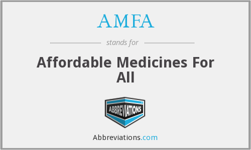 AMFA - Affordable Medicines For All