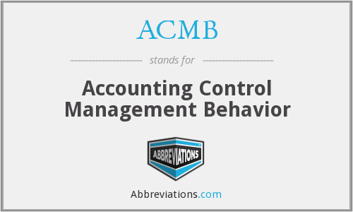 ACMB - Accounting Control Management Behavior