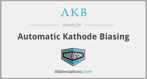 AKB - Automatic Kathode Biasing