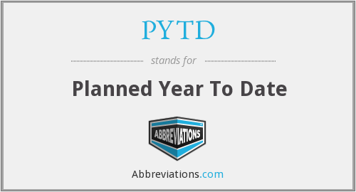 PYTD - Planned Year To Date