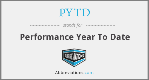 PYTD - Performance Year To Date