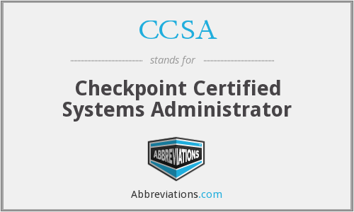 CCSA - Checkpoint Certified Systems Administrator