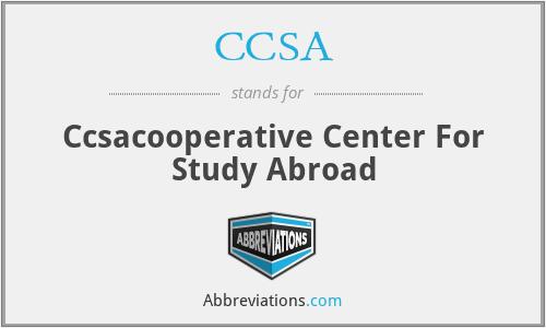 CCSA - Ccsacooperative Center For Study Abroad