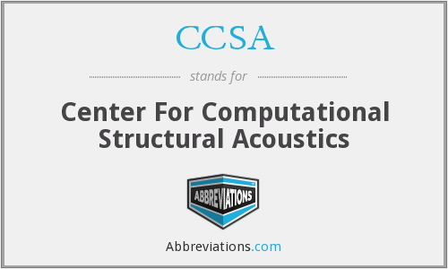 CCSA - Center For Computational Structural Acoustics