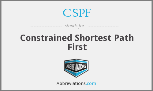 CSPF - Constrained Shortest Path First
