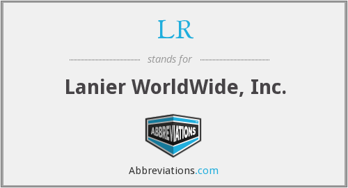 LR - Lanier WorldWide, Inc.