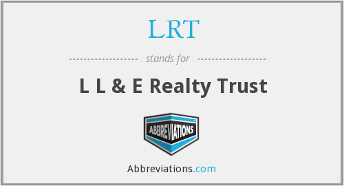 What does LRT stand for?