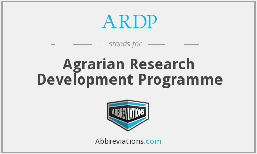 ARDP - Agrarian Research Development Programme