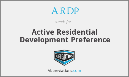 ARDP - Active Residential Development Preference