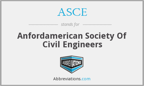 ASCE - Anfordamerican Society Of Civil Engineers