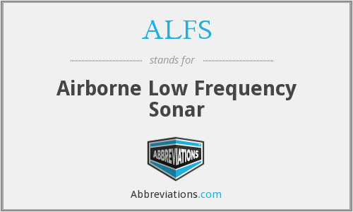 ALFS - Airborne Low Frequency Sonar