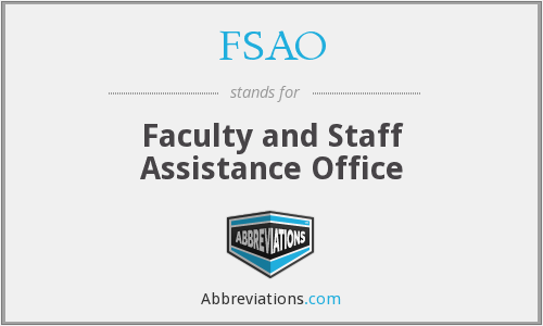 FSAO - Faculty and Staff Assistance Office