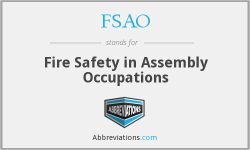 FSAO - Fire Safety in Assembly Occupations