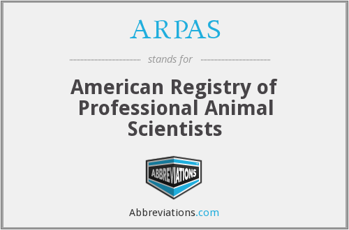 ARPAS - American Registry of Professional Animal Scientists