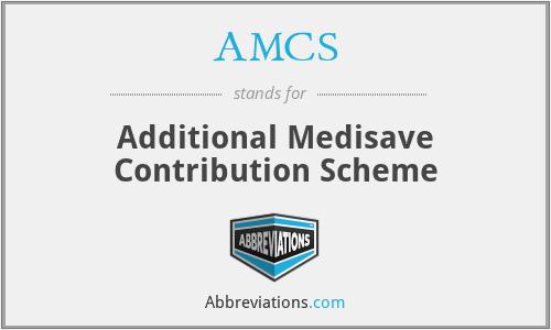 AMCS - Additional Medisave Contribution Scheme