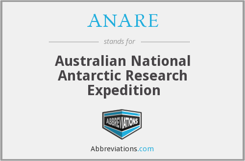 ANARE - Australian National Antarctic Research Expedition