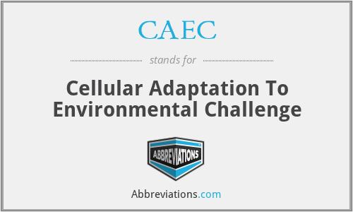 CAEC - Cellular Adaptation To Environmental Challenge
