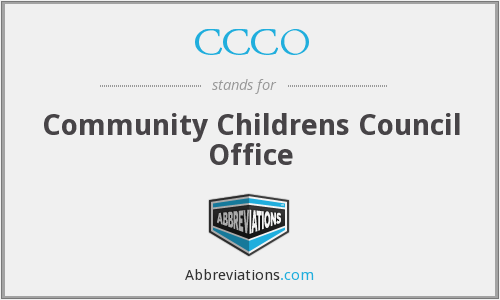 CCCO - Community Childrens Council Office