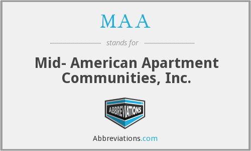 MAA - Mid- American Apartment Communities, Inc.